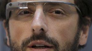 Google cofounder Sergey Brin wears Google Glass.